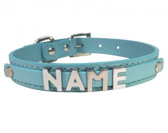 Hundehalsband blau, glatt