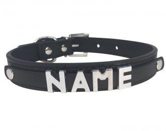 Hundehalsband schwarz, glatt
