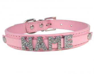 Hundehalsband rosa, Glitzer