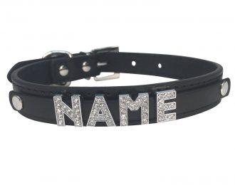 Hundehalsband schwarz, Glitzer